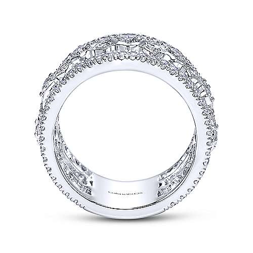 18k White Gold Contemporary Fancy Anniversary Band angle 2