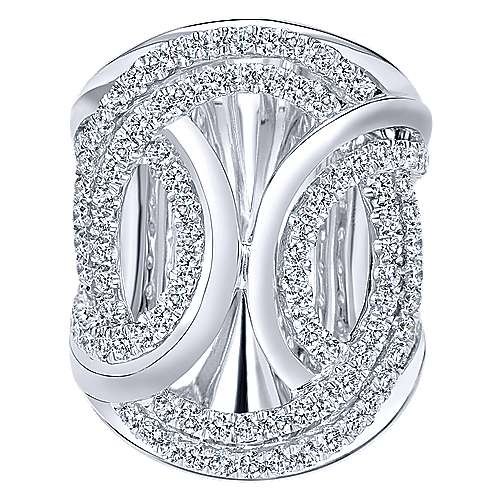 18k White Gold Contemporary Fashion Ladies' Ring angle 1
