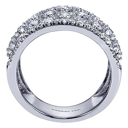 18k White Gold Contemporary Wide Band Ladies' Ring angle 2