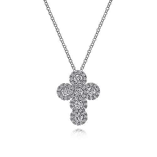 Gabriel - 18k White Gold Faith Cross Necklace