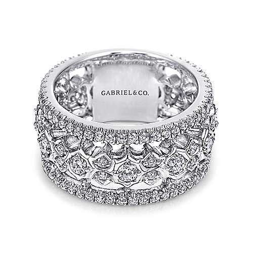 Gabriel - 18k White Gold Fancy Diamond Anniversary Band