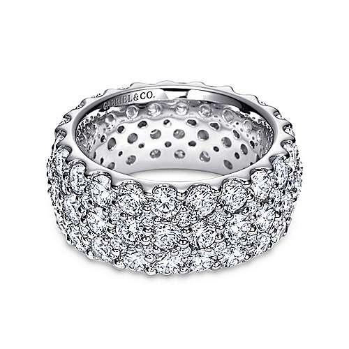 18k White Gold Fancy Micro Pavé Eternity Band