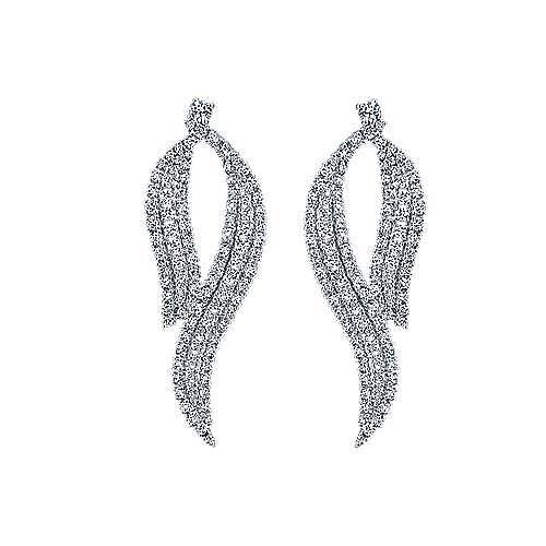 18k White Gold Kaslique Drop Earrings angle 1