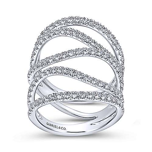18k White Gold Kaslique Fashion Ladies' Ring angle 4