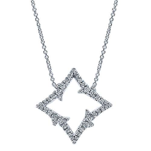 Gabriel - 18k White Gold Kaslique Fashion Necklace