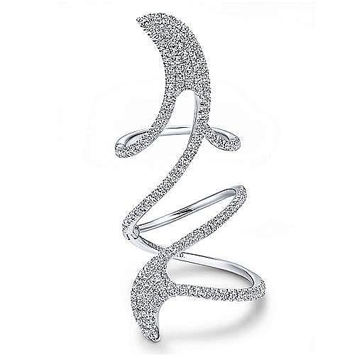 Gabriel - 18k White Gold Kaslique Statement Ladies' Ring