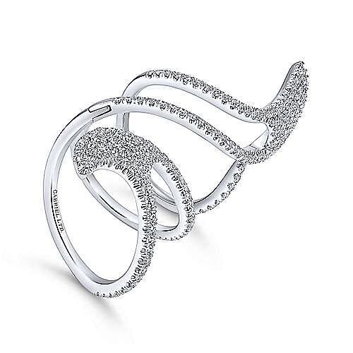18k White Gold Kaslique Statement Ladies' Ring angle 3
