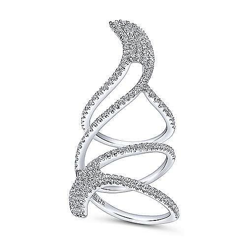 18k White Gold Kaslique Statement Ladies' Ring angle 4