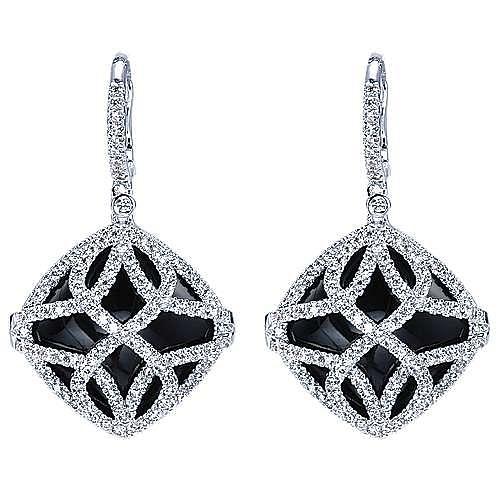 Gabriel - 18k White Gold Lusso Color Drop Earrings
