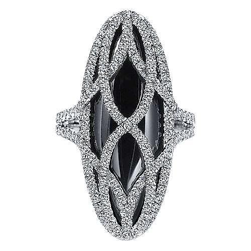 Gabriel - 18k White Gold Lusso Color Fashion Ladies' Ring