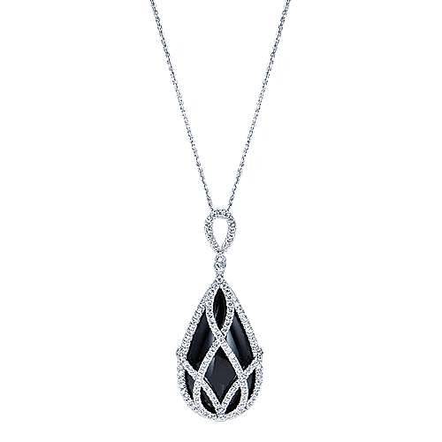18k White Gold Lusso Color Fashion Necklace angle 1