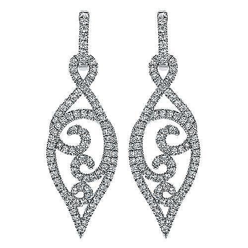 18k White Gold Lusso Drop Earrings angle 1