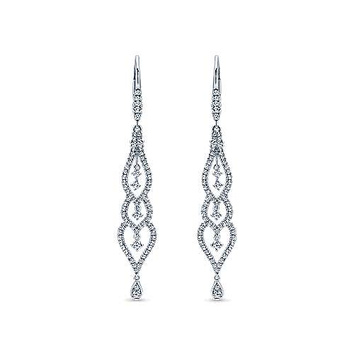 18k White Gold Lusso Drop Earrings angle 1