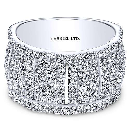 Gabriel - 18k White Gold Lusso Fashion Ladies' Ring