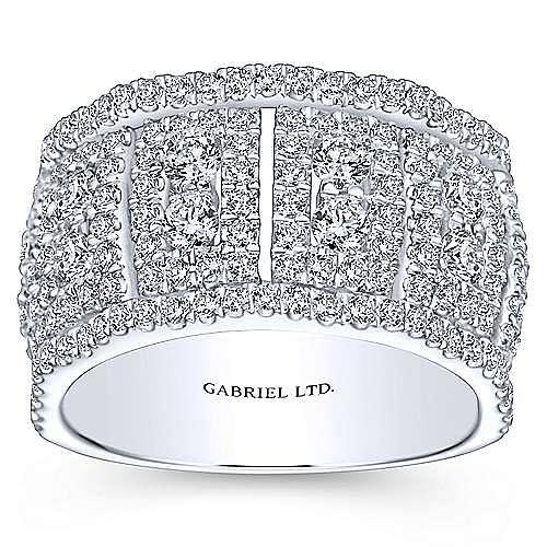 18k White Gold Lusso Fashion Ladies' Ring angle 4
