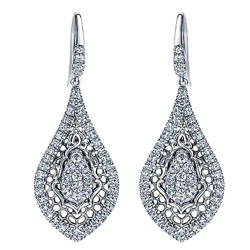 Gabriel - 18k White Gold Mediterranean Drop Earrings