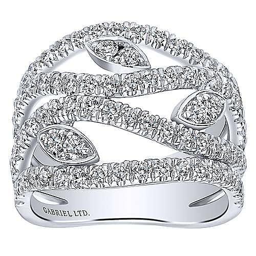 18k White Gold Mediterranean Fashion Ladies' Ring angle 4