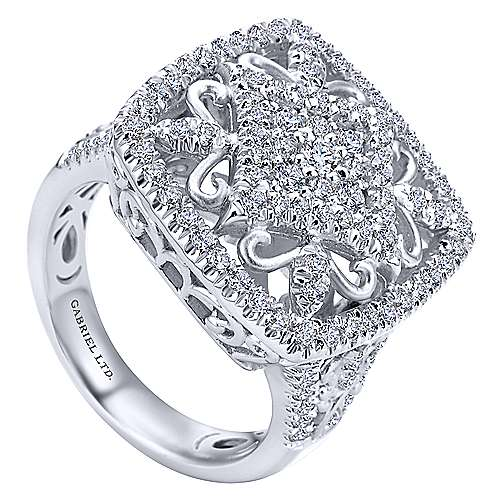 18k White Gold Mediterranean Fashion Ladies' Ring angle 3