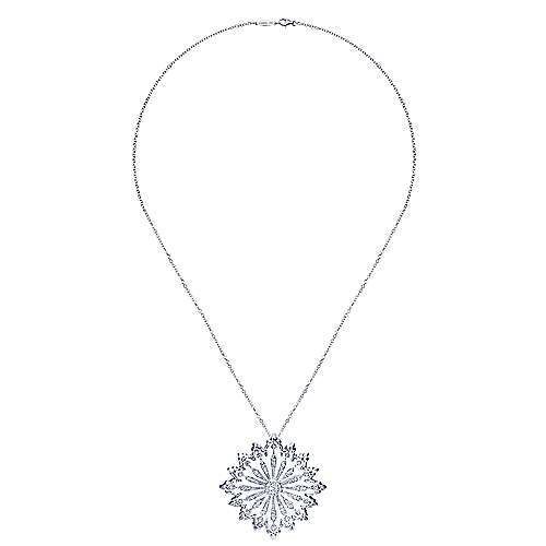 18k White Gold Mediterranean Fashion Necklace angle 2