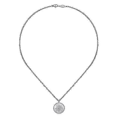 18k White Gold Mediterranean Fashion Necklace angle 2