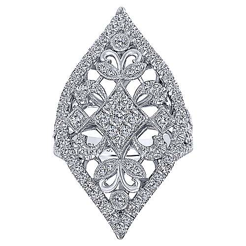 18k White Gold Mediterranean Statement Ladies' Ring angle 4