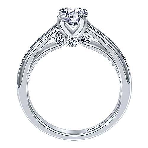 18k White Gold Round Split Shank Engagement Ring angle 2