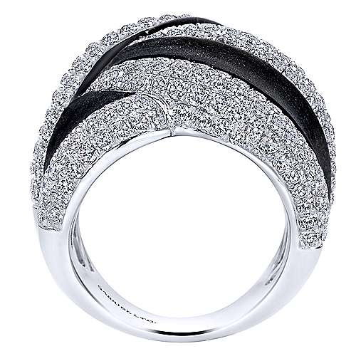 18k White Gold Silk Fashion Ladies' Ring angle 2