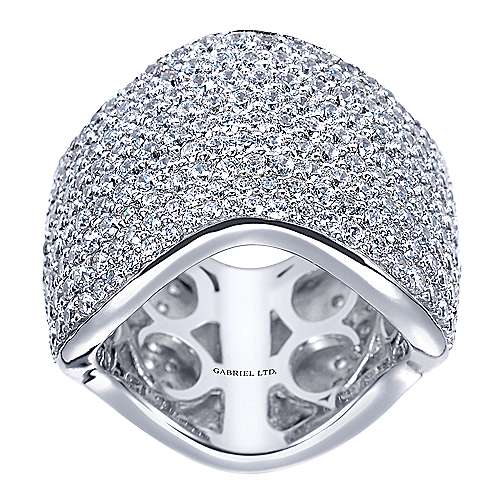 18k White Gold Silk Fashion Ladies' Ring angle 4