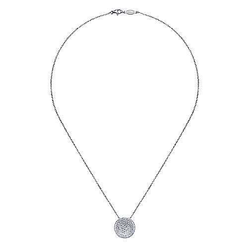 18k White Gold Silk Fashion Necklace angle 2