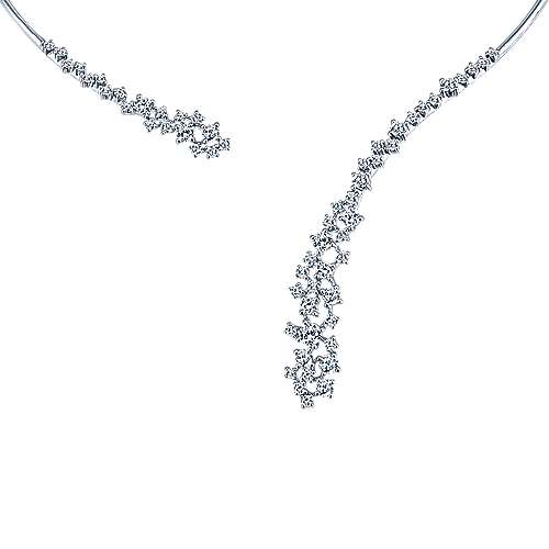 Gabriel - 18k White Gold Waterfall Choker Necklace