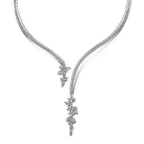 Gabriel - 18k White Gold Waterfall Choker Necklace
