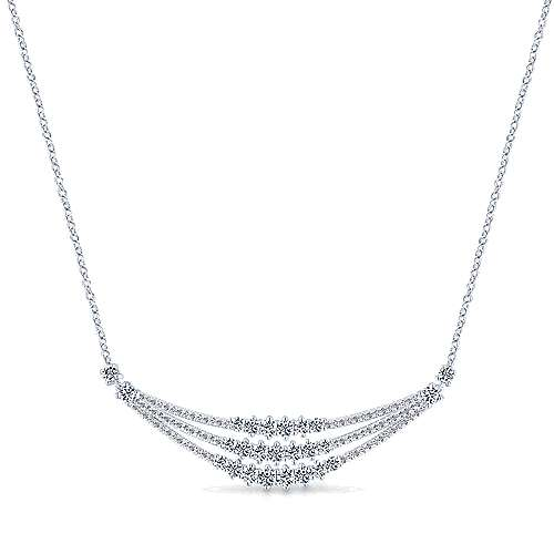 18k White Gold Waterfall Fashion Necklace angle 1