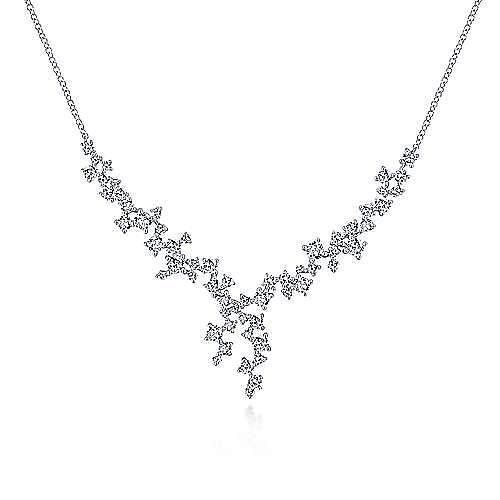 Gabriel - 18k White Gold Waterfall Fashion Necklace