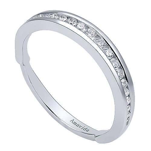 18k White Gold Wedding Band angle 3