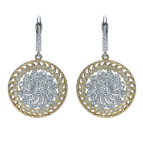 Gabriel - 18k Yellow And White Gold Mediterranean Drop Earrings