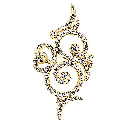 Gabriel - 18k Yellow Gold Allure Fashion Ladies' Ring