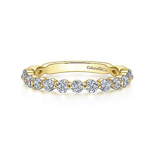 Gabriel - 18k Yellow Gold Contemporary Straight Wedding Band