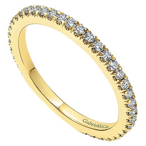 18k Yellow Gold Contemporary Straight Wedding Band angle 3