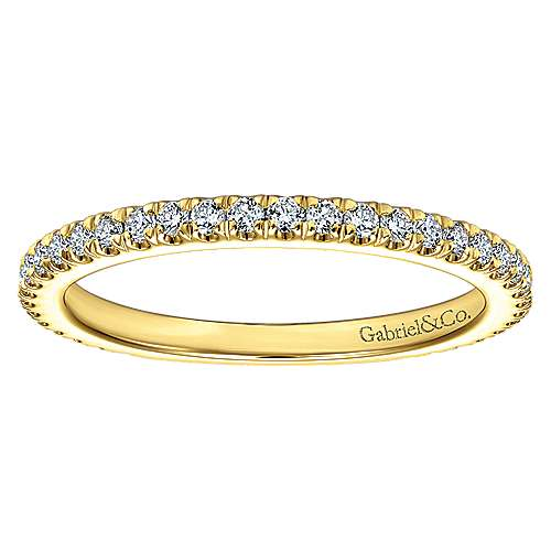 18k Yellow Gold Contemporary Straight Wedding Band angle 5