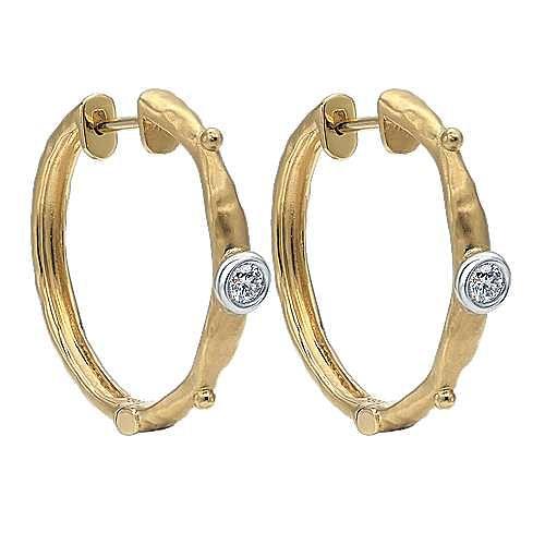 Gabriel - 18k Yellow Gold Hoops Classic Hoop Earrings
