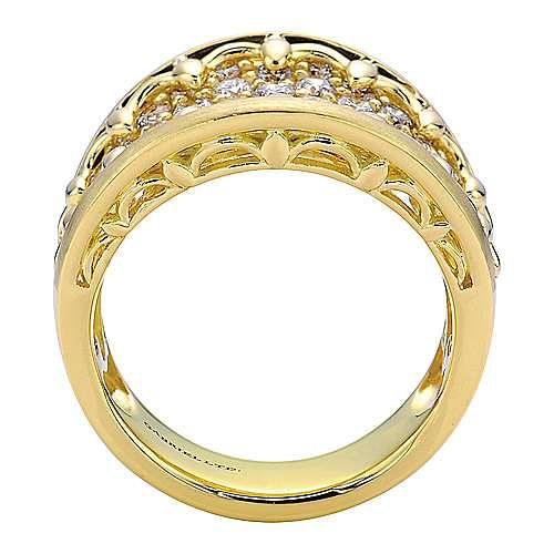 18k Yellow Gold Mediterranean Fashion Ladies' Ring angle 2