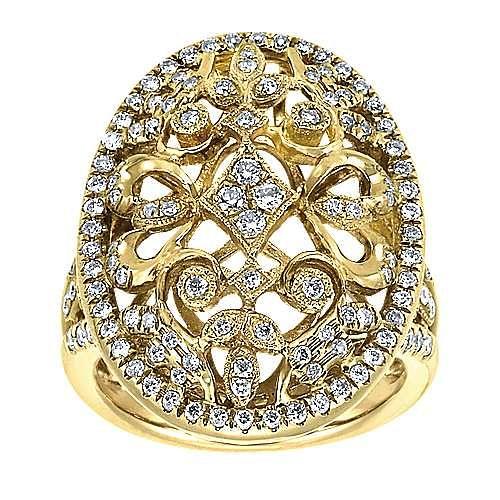 18k Yellow Gold Mediterranean Fashion Ladies' Ring angle 4