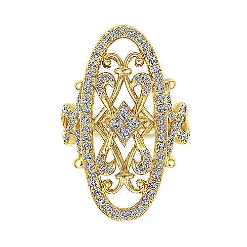 18k Yellow Gold Mediterranean Fashion Ladies' Ring angle 4