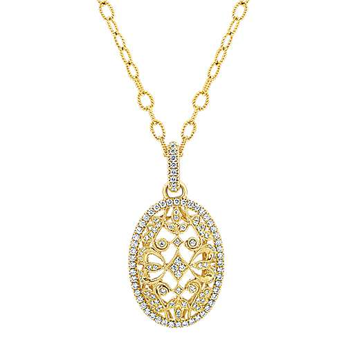 18k Yellow Gold Mediterranean Fashion Necklace angle 1
