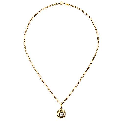 18k Yellow Gold Mediterranean Fashion Necklace angle 2