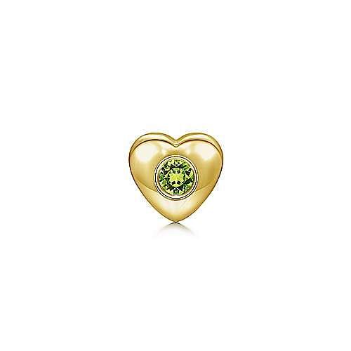 18k Yellow Gold Treasure Chests Locket Charm Pendant angle 1