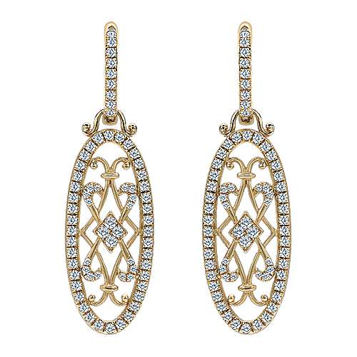 Gabriel - 18k Yellow Gold Victorian Drop Earrings