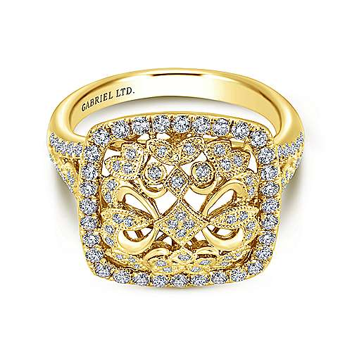 18k Yellow Gold Victorian Fashion Ladies Ring