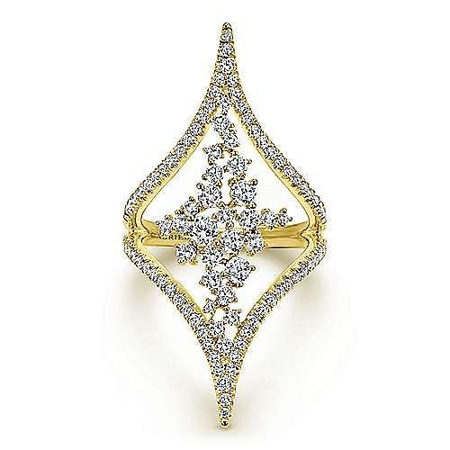 Gabriel - 18k Yellow Gold Waterfall Statement Ladies' Ring