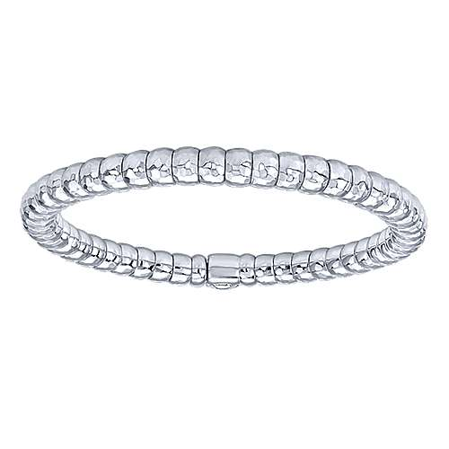 925 Silver & Stainless Steel Plain Bangle